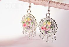 After summer rain earrings 30 mm by aarrre on Etsy, $50.00