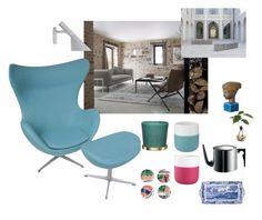 """Interior inspo"" by malinandersson on Polyvore featuring interior, interiors, interior design, home, home decor, interior decorating, Spode, Royal Copenhagen, Fritz Hansen and Progetto"