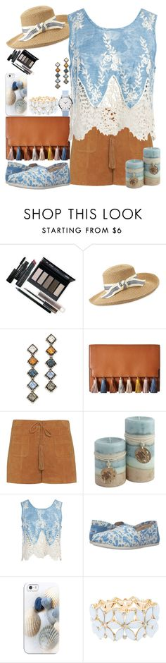 """""""Sea Scene"""" by katykitty5397 ❤ liked on Polyvore featuring Borghese, Eric Javits, DANNIJO, Rebecca Minkoff, Exclusive for Intermix, Sans Souci, TOMS, Casetify and Charlotte Russe"""