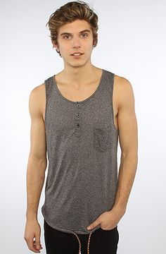 The Oracle Tank Top in Black Speckle, ARSNL
