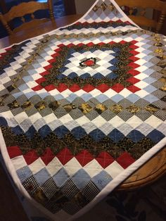 Memory Quilt made from blouses