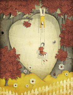 Heart Art Print - Society 6
