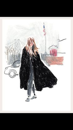The illustrator Damien Florébert Cuypers shares his impressions of the fashion set.