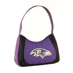 BACK IN STOCK, ONE BALTIMORE RAVENS, CURVE HOBO SWAG PURSE FROM LITTLE EARTH #LittleEarth #BaltimoreRavens