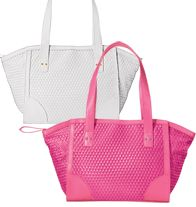 Woven Butler Bag, Pink or White  $19.99
