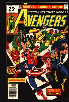 AVENGERS #150 George Perez JACK KIRBY Steve Englehart Stan Lee Thor Captain America Iron Man Vision Scarlet Witch Yellowjacket Beast