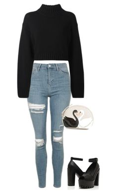 """Untitled #653"" by kitty-paws04 ❤ liked on Polyvore featuring Topshop, DKNY and Kate Spade"