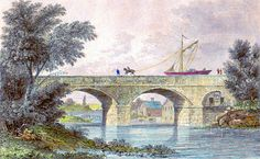 Barton Aqueduct - Constructed in 1761 by James Brindley, this stone aqueduct was required to carry the Bridgewater Canal over the river Irwell.
