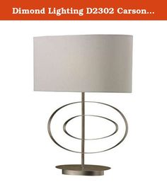 Dimond Lighting D2302 Carson 1-Light Off Centre Oval Contemporary Table Lamp with Linen Shade, 20 by 26-Inch, Antique Silver Leaf Finish. This Carson collection off center oval contemporary table lamp accommodates one 100-watt medium base bulb and 3 way switch. Made from steel material. Features linen shade. Comes with antique silver leaf finish. Shade measures 10-inch length by 20-inch width by 10-inch height. Overall measures 20-inch width by 26-inch height.
