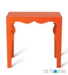 Bright orange #endtable! #athomefinds