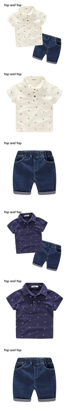 2016 New Fashion Kids Clothes Boys Summer Set Print Shirt + Short Boy Clothing Sets Toddler Boy Clothes Set