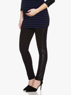 Shop online for Maternity Legging With Faux-Leather Inserts. Find Bottoms, Maternity and more at Thyme Maternity Leggings, Black Jeans, Pants, Leather, Clothes, Shopping, Fashion, Pregnancy, Skirt