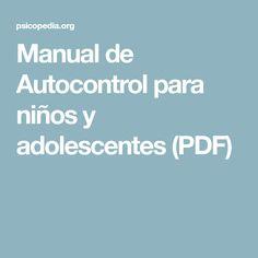 Manual de Autocontrol para niños y adolescentes (PDF)