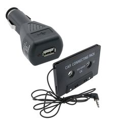 Insten Tape Cassette Adapter/ Car Charger for Apple iPod/ iPhone 3GS/ 4