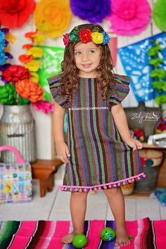 Mexican dress vestido mexicano cambaya pom poms mexican party fiesta mexicana uno fiesta first birthday cinco de mayo day of the dead coco – Cute Adorable Baby Outfits Mexican Costume, Mexican Outfit, Mexican Party, Baby Girl Fashion, Toddler Fashion, Kids Fashion, Outfits For Mexico, Kids Outfits, Baby Outfits