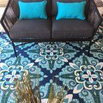 You'll love the Kailani Contemporary Blue/Green Indoor/Outdoor Area Rug at Wayfair - Great Deals on all Rugs products with Free Shipping on most stuff, even the big stuff.