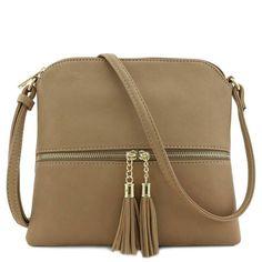 825730a2521a Lightweight Medium Crossbody Bag with Tassel