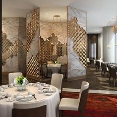 Modern Design Laser Cut Partition Screen Restaurant Wall Panel Screen Marble Screen - China Metal Screen and Room Divider price | Made-in-China.com Partition Screen, Partition Design, Wall Panel Design, Divider Screen, Screen Design, Style Deco, Restaurant Interior Design, Hotel Lobby, Cafe Design