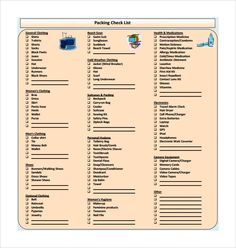 Travel Checklist Template   Yahoo Image Search Results  Travel