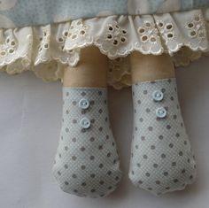 PDF sewing pattern Doll soft toy Dressed doll