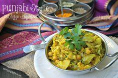 Punjabi Style Cabbage + Chickpeas.