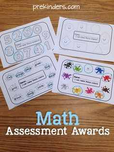 Math Assessment Awards: print, assess, and send home to parents!