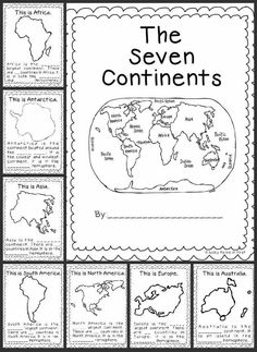 Teaching the Seven Continents in your classroom with games, books, spinners and crafts!