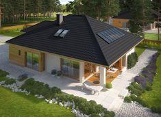 Modern Small House Design, Bungalow House Design, A Frame House Plans, Dream House Plans, Casas Country, House Cladding, House Outside Design, House Design Pictures, Modern Bungalow House