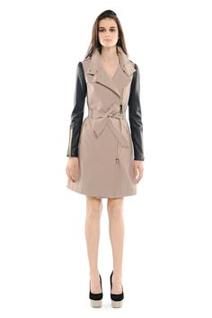 Thinking about a trench with leather arms... Mackage - AVRA TRENCH COAT
