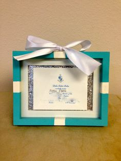 Tiffany inspired Bid Card Frame by SororityGirlCrafter on Etsy, $25.00