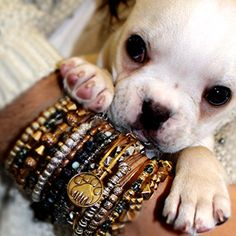 Our two favorite things! #puppy #charmedarms