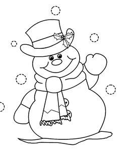 Pintar ninot de neu per pintar - Dibuix del projecte