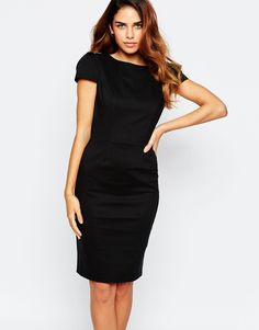 Paper Dolls Tuxedo Pencil Dress With Open Back