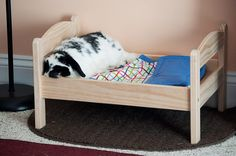 Ikea Duktig Pine Bed with Bedlinen | Bunny Approved – House Rabbit Toys, Snacks, and Accessories