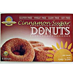 Kinnikinnick Donuts- I've had both the cinnamon sugar and chocolate kinds and they are both awesome. they taste like real donuts. Found at Giant and Roots market