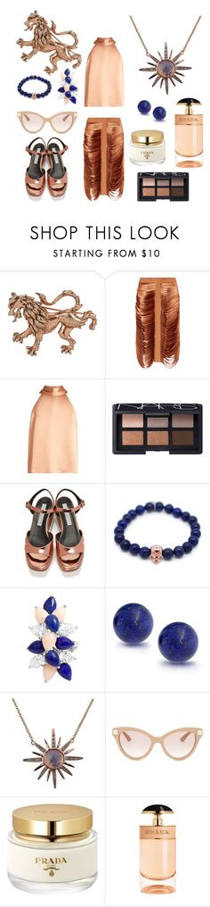 """Dancing Chic"" by discobubbles on Polyvore featuring Dion Lee, Galvan, NARS Cosmetics, STELLA McCARTNEY, Gideon John, Bling Jewelry, Valentino and Prada"