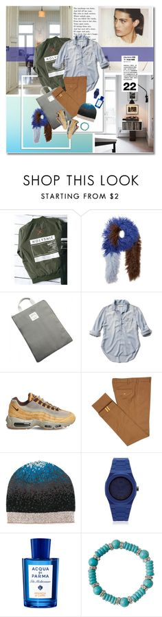 """""""Senza titolo #3486"""" by undici ❤ liked on Polyvore featuring Beautiful People, Saks Potts, Abercrombie & Fitch, NIKE, Diverso, M Missoni, d1 Milano and Acqua di Parma"""