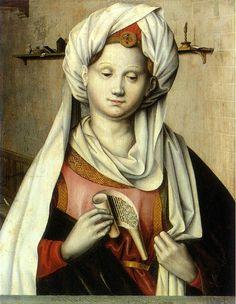 ❤ - Robert Campin (1375 - 1444) - Cumaean Sibyl (Ludger tom Ring the Elder after Robert Campin ) - Munster, Landesmuseum for Kunst and Kulturgeschichte