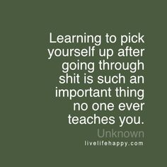 Learning to Pick Yourself up After