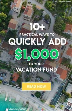 Need ideas to save for vacation? I found a list of 14 practical ways you can stuff a money jar and save for vacation in 2 months or less! Make Money Fast, Ways To Save Money, Make Money From Home, Make Money Online, Money Saving Challenge, Money Saving Tips, Travel Money, Budget Travel, Travel Tips