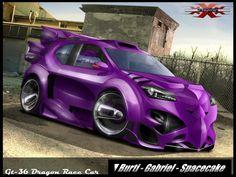 Dragon Race Car____ GT-36 by ~BurtiLoko on deviantART