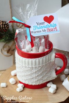 Your Friendship Warms my Heart gift idea! Perfect for 12 Days of Christmas