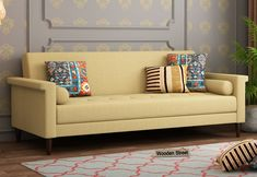 Buy Hover Fabric Sofa Cum Bed (Irish Cream) Online in India from Wooden Street & save 27% OFF #fabricsofa #fabricsofas #fabricsofaset #fabricsofasets