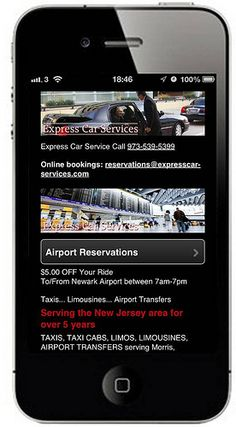 Leading Airport Car Service operator from New Jersey US, see's a massive lift in business following their mobile website investment from UK web design agency Bos Marketing Solutions.  Mobile is changing the business landscape.  See what it's doing for Express Car Services from Morristown.  www.expresscar-services.com