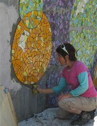 Community Mosaic Mural Making
