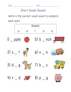 ENGLISHLINX.COM  ------ Vowels Worksheets