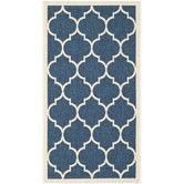 Found it at Wayfair - Courtyard Fairmont Navy/Beige Outdoor Area Rug