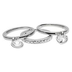 Set of 3 Stacking Size 8 Rings-One Dangle Heart-One Round Dangle-One Plain Silver Tone Rhinestone Studded Band-Rhinestone Rings for Brides-Bridal Party Gifts-Prom Jewelry-With FREE Organza Gift Bag BodySparkle Bridal Jewelry,http://www.amazon.com/dp/B00CMRHCM8/ref=cm_sw_r_pi_dp_nxTfsb1QX11AV7P1