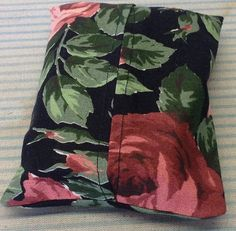 "Rose Fabric ""Handmade"" Pocket Tissue Cover, Mother's day gift #Fabric"