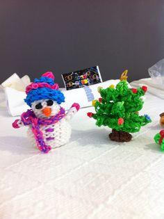 Boneco  de neve e árvore de natal
